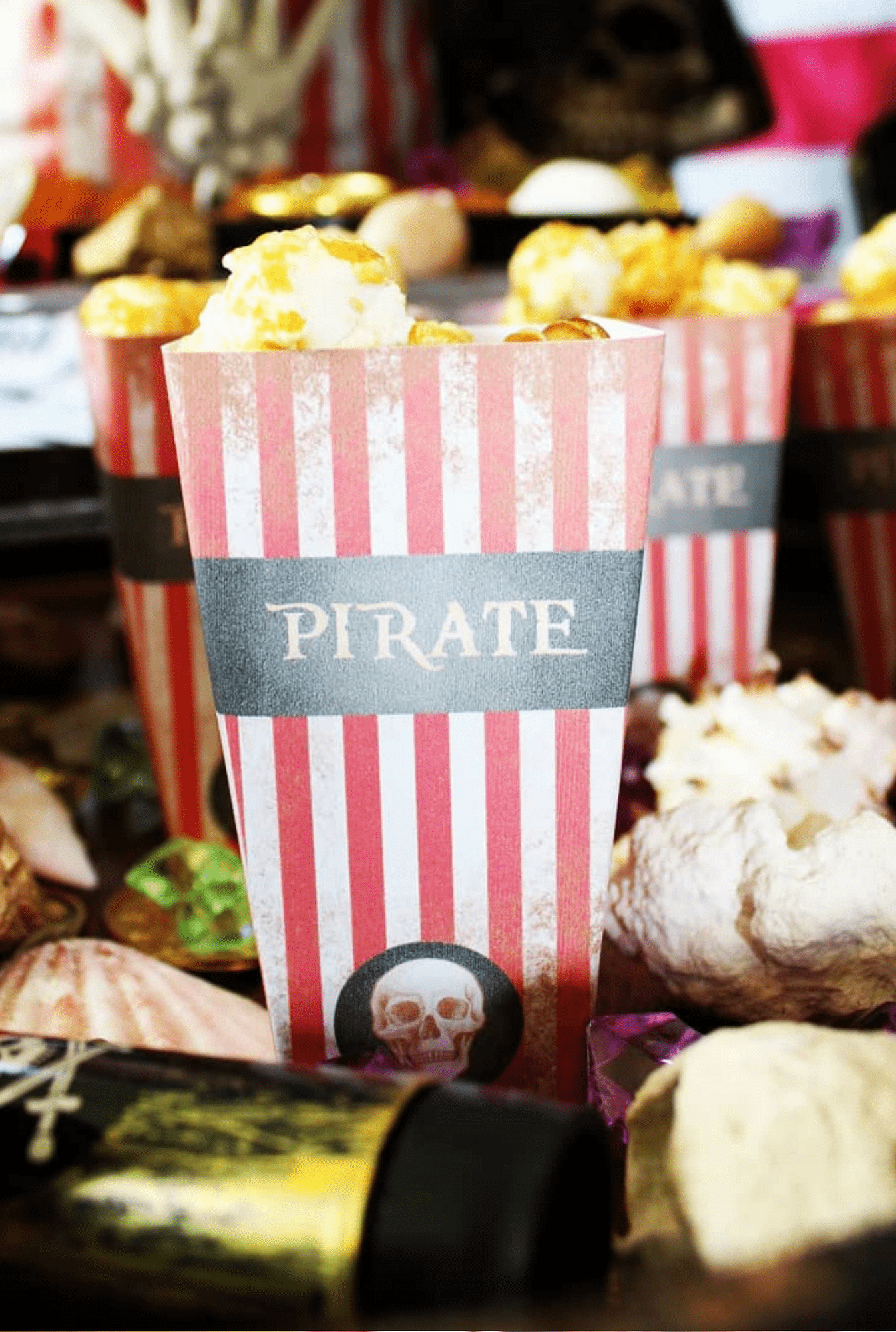Prestation Papeterie Boite Pop Corn Pirate