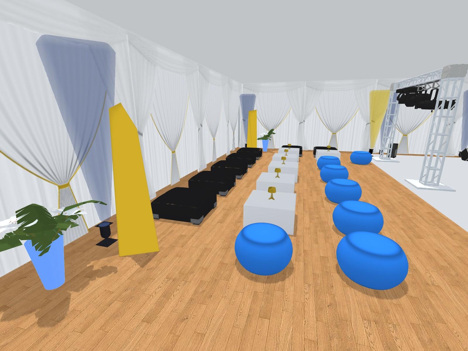 Prestations Plan 3d Evenement Mariage Anniversaire Décoration Evenementielle France Implantation 3d Danceflor Cote Detentebas