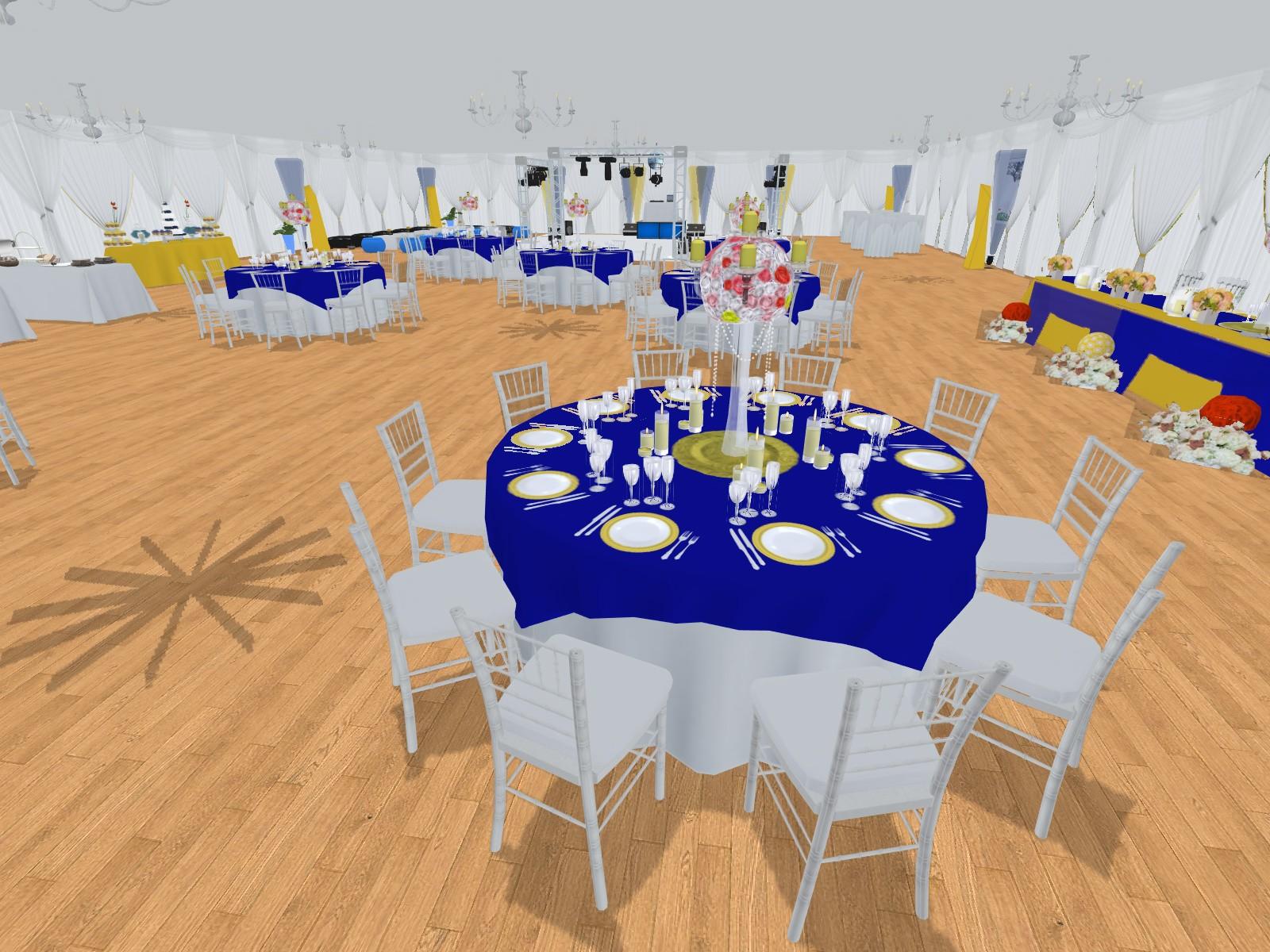 Prestations Plan 3d Evenement Mariage Anniversaire Décoration Evenementielle France Implantation 3d Table De Reception