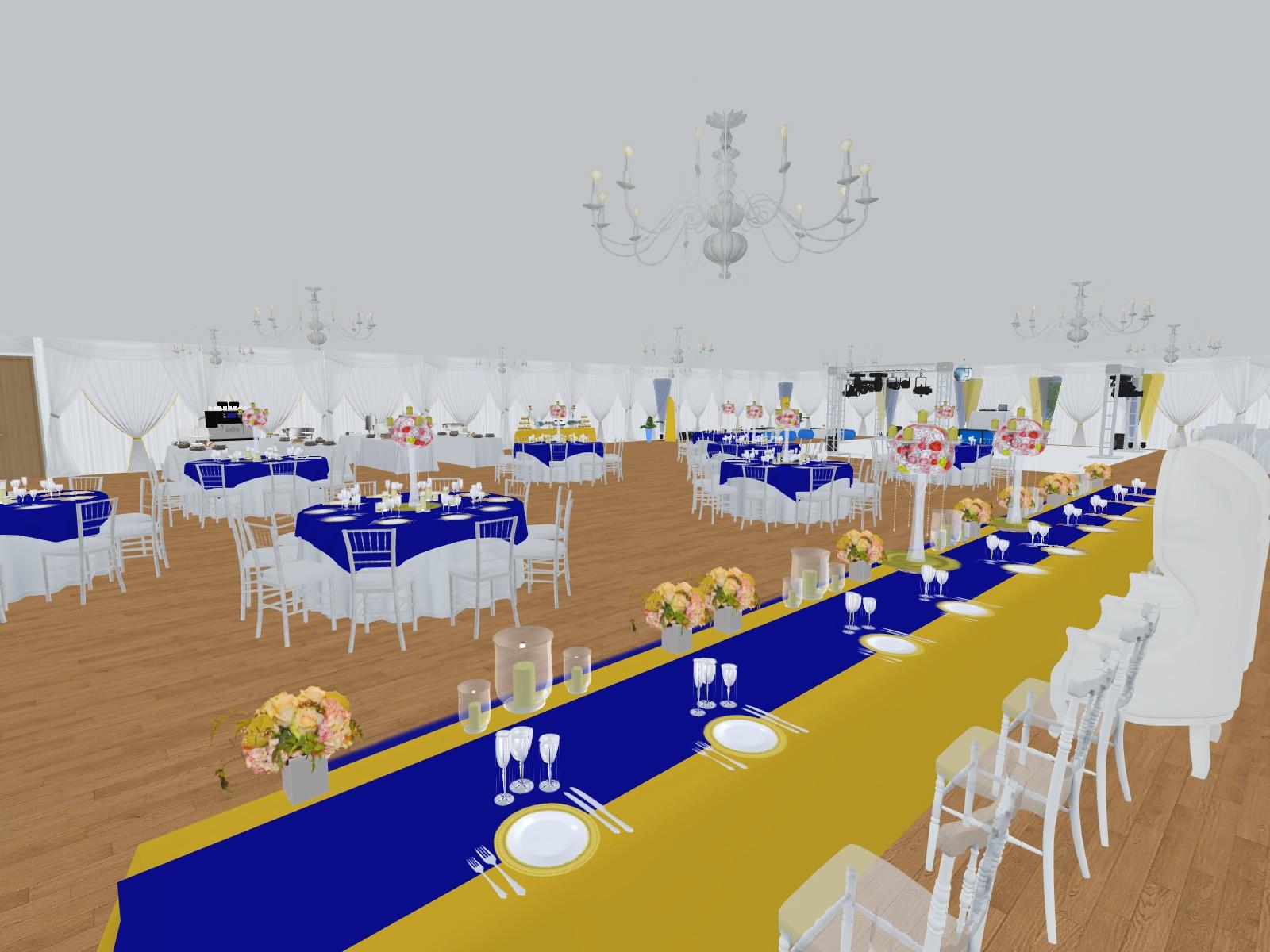Prestations Plan 3d Evenement Mariage Anniversaire Décoration Evenementielle France Implantation 3d Table Dhonneur Vue Des Maries
