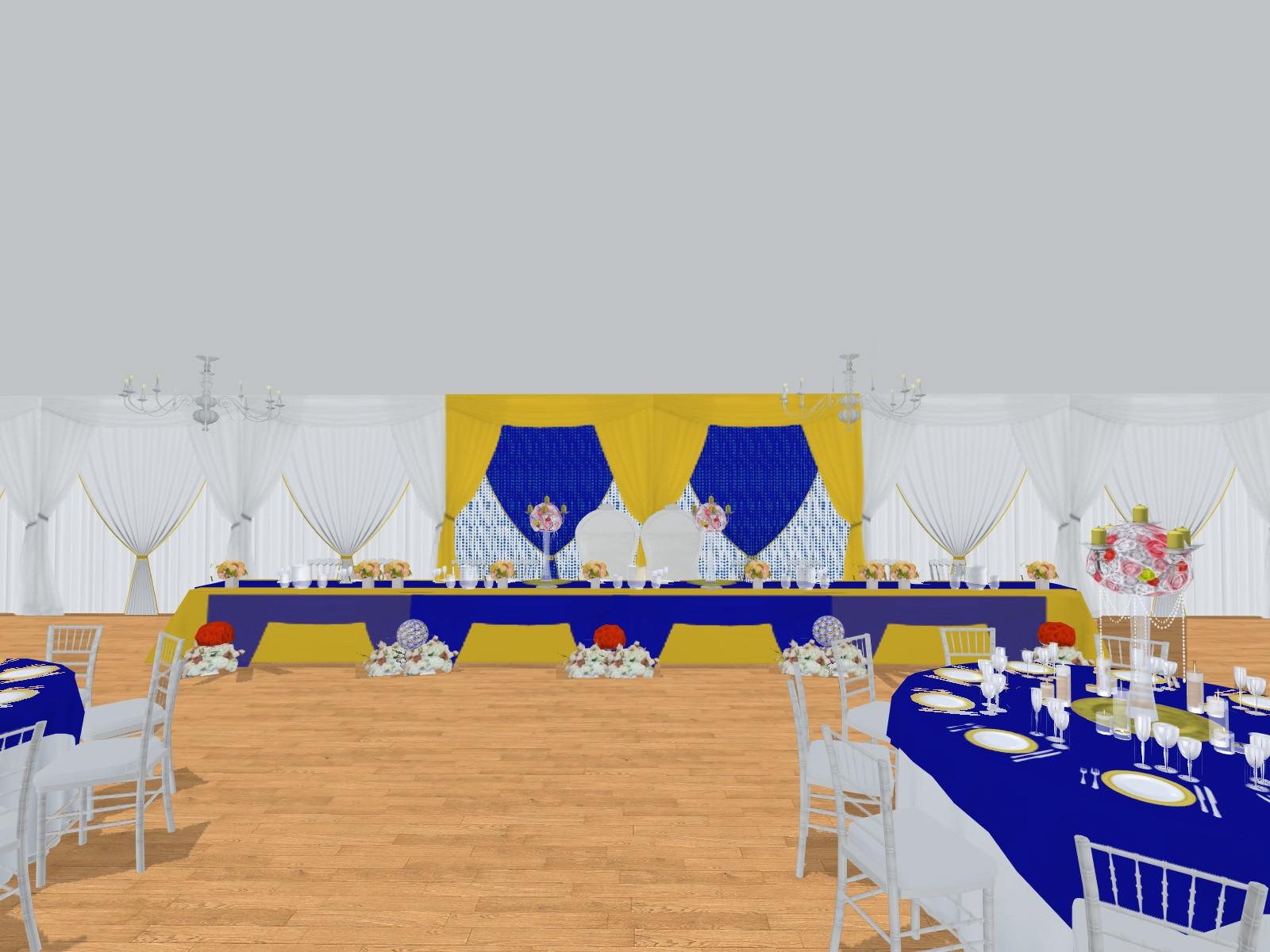 Prestations Plan 3d Evenement Mariage Anniversaire Décoration Evenementielle France Implantation 3d Table Dhonneur