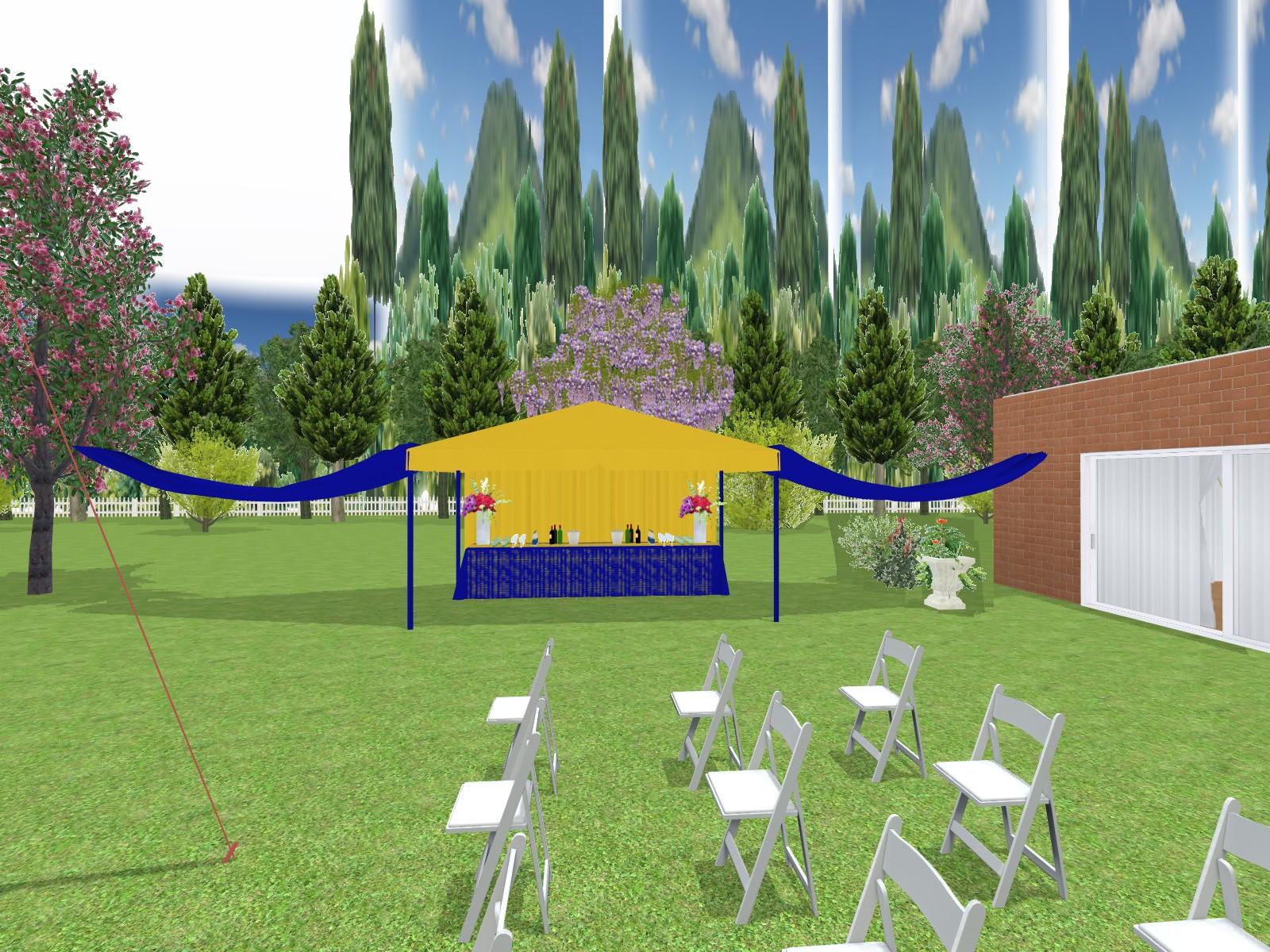 Prestations Plan 3d Evenement Mariage Anniversaire Décoration Evenementielle France Implantation 3d Tente De Reception Buffet