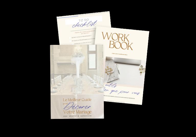 workbook cadeau le meilleur guide pour décorer votre mariage avec sérénité et authenticité